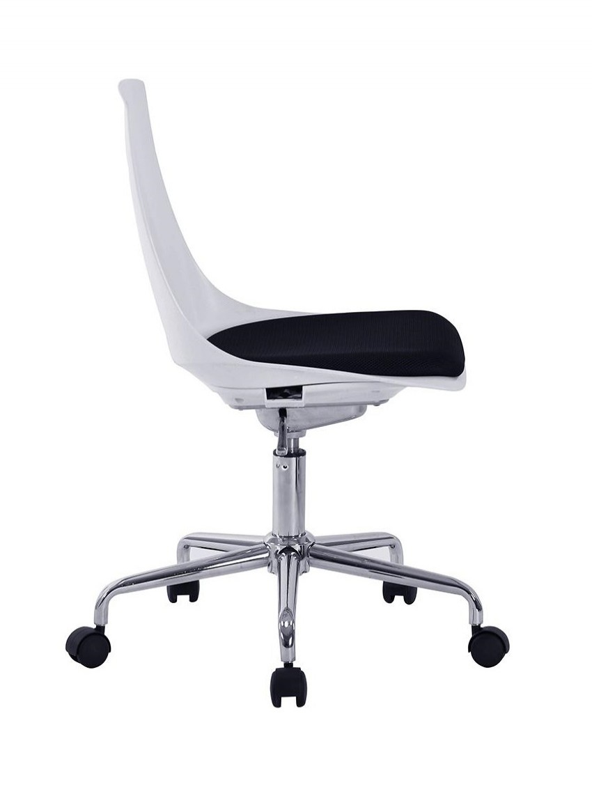 Poly Office Chair White Flow Swivel Chair BCP/K544/WH-BK by Eliza Tinsley