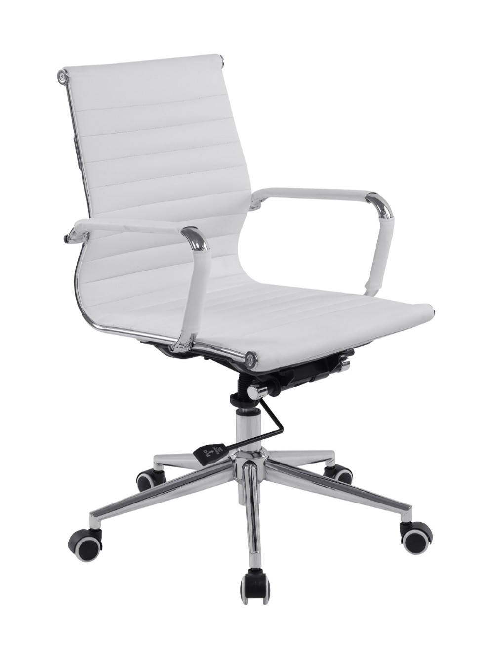 Bonded Leather Office Chair White Aura Medium Back BCL/8003/WH by Eliza Tinsley