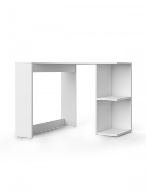Home Office Desk White Chesil Corner Desk AW3120 by Alphason