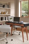 Home Office Desk Grey Truro Study Desk AW3150 by Alphason - enlarged view