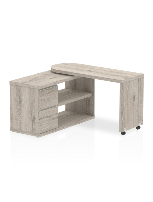 Home Office Desk Grey Oak Fleur Smart Storage Desk HO00102 by Dynamic