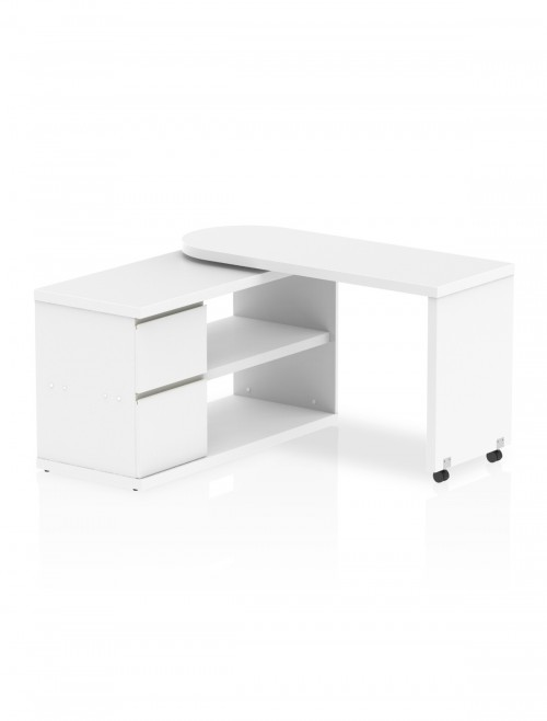 Home Office Desk White Fleur Smart Storage Desk HO00101 by Dynamic
