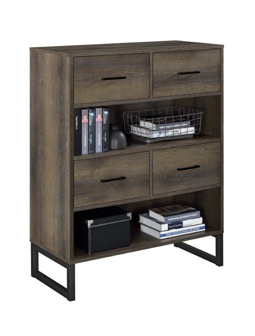 Short Bookcase Brown Candon Storage Cabinet 9665096COMUK by Dorel