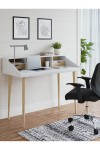 Home Office Desk White Yeovil Study Desk AW3180 by Alphason Dorel - enlarged view