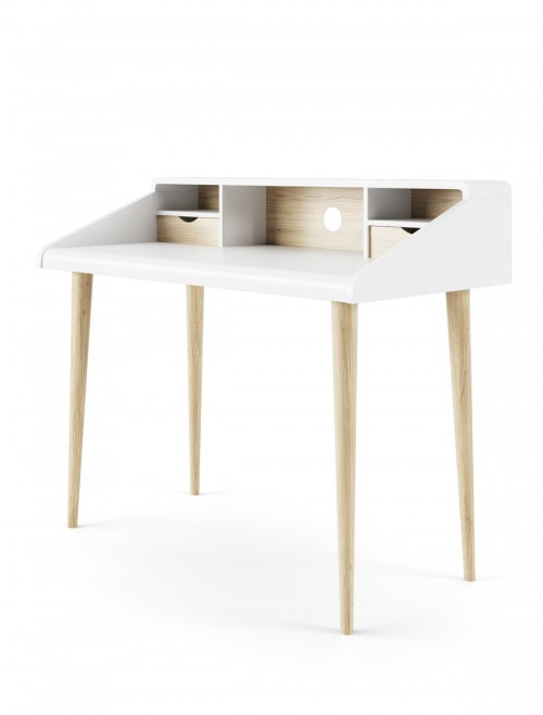 Home Office Desk White Yeovil Study Desk AW3180 by Alphason Dorel