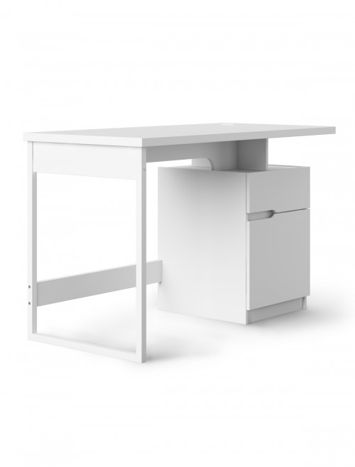 Home Office Desk White Bridport Computer Desk AW3130 by Alphason Dorel