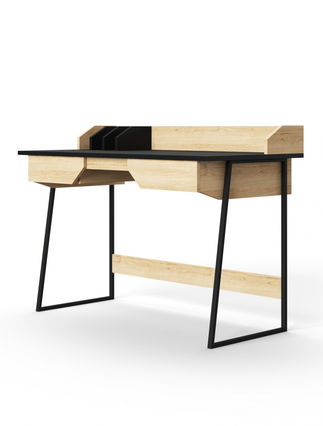Home Office Desk Black and Oak Salisbury Computer Desk AW3100 by Alphason Dorel