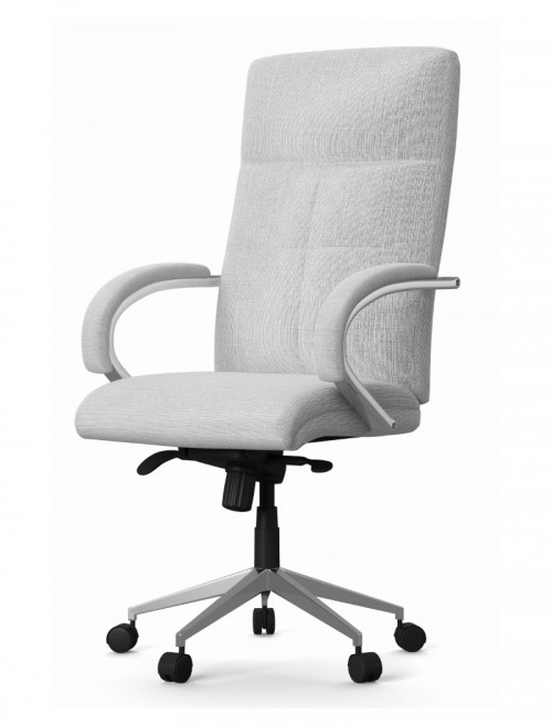 Fabric Office Chair Grey Bedford Computer Chair AOC1580GRY by Alphason
