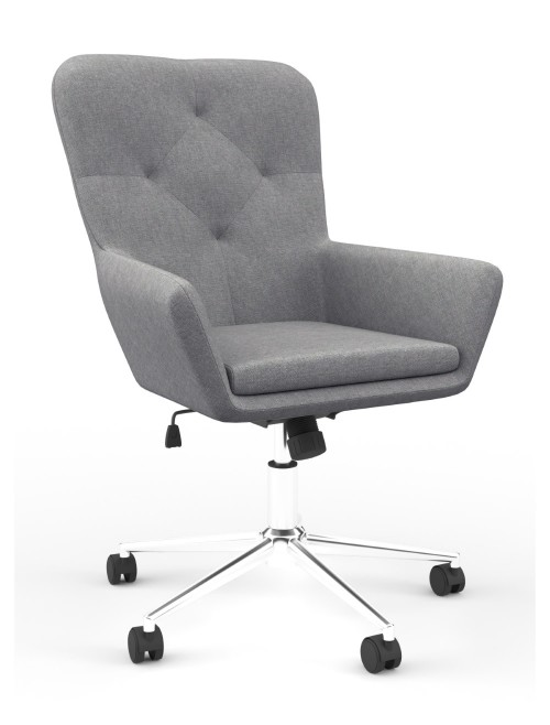 Fabric Office Chair Grey Benjamin Computer Chair AOC4482GRY by Alphason