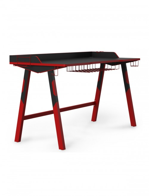 Gaming Desk Fuego Red and Black Home Office Desk AW9230 by Alphason Dorel