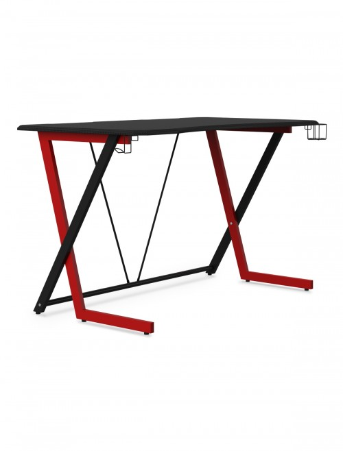 Gaming Desk Phantom Red and Black Home Office Desk AW9200 by Alphason Dorel