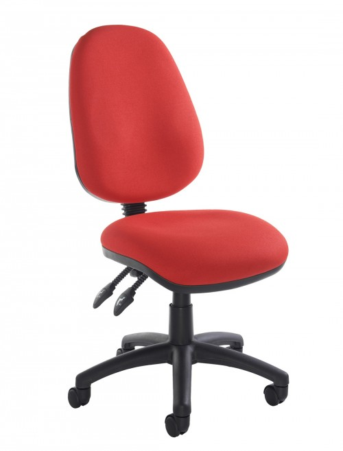 Fabric Office Chair Red Vantage 100 Operator Chair V100-00-R by Dams