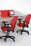 Fabric Office Chair Red Vantage 102 Operator Chair V102-00-R by Dams - enlarged view
