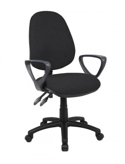 Fabric Office Chair Black Vantage 101 Operator Chair V101-00-K by Dams