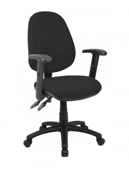 Fabric Office Chair Black Vantage 102 Operator Chair V102-00-K by Dams