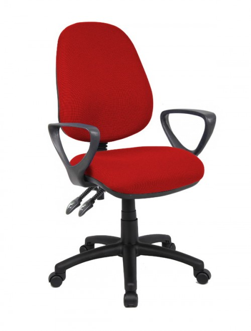 Fabric Office Chair Burgundy Vantage 101 Operator Chair V101-00-BU by Dams