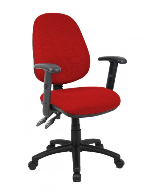 Fabric Office Chair Burgundy Vantage 102 Operator Chair V102-00-BU by Dams