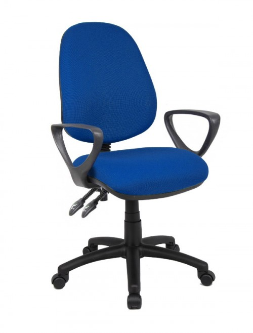 Fabric Office Chair Blue Vantage 101 Operator Chair V101-00-B by Dams