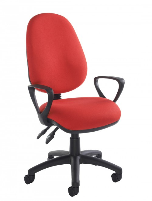 Fabric Office Chair Red Vantage 101 Operator Chair V101-00-R by Dams