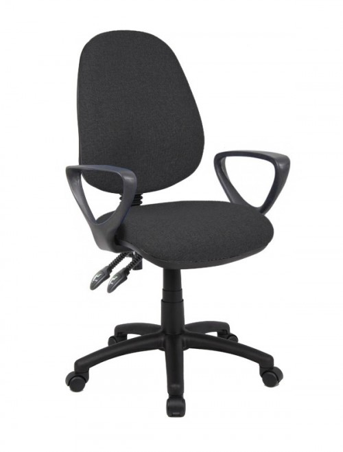 Fabric Office Chair Charcoal Vantage 101 Operator Chair V101-00-C by Dams