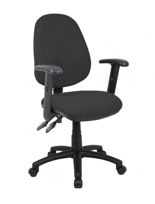 Fabric Office Chair Charcoal Vantage 102 Operator Chair V102-00-C by Dams