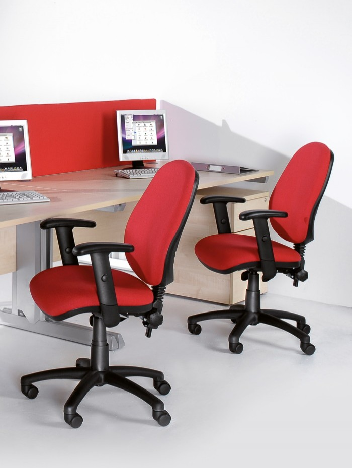 Fabric Office Chair Red Vantage 102 Operator Chair V102-00-R by Dams