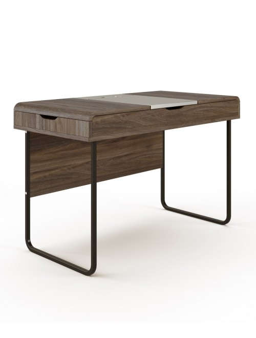 Home Office Desk Walnut Dorset Computer Desk AW3170 by Alphason Dorel
