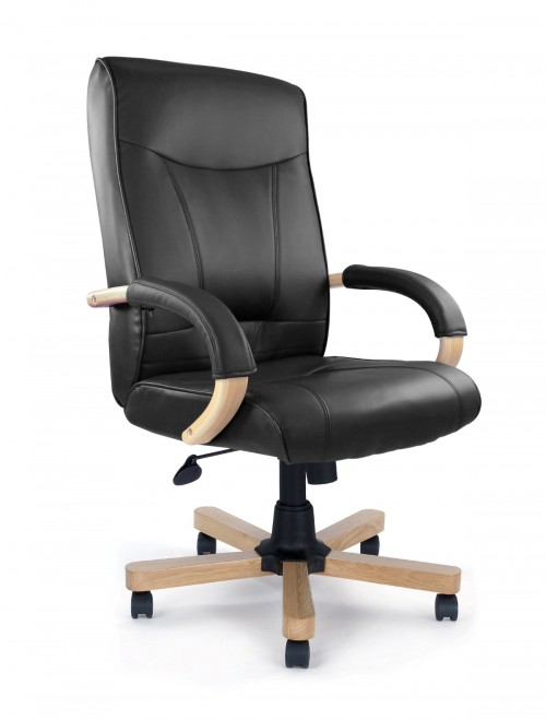 Office Chair Black Leather Troon Executive Chair 4750ATG/LBK by Eliza Tinsley