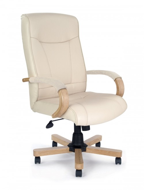 Office Chair Cream Leather Troon Executive Chair 4750ATG/LCM by Eliza Tinsley