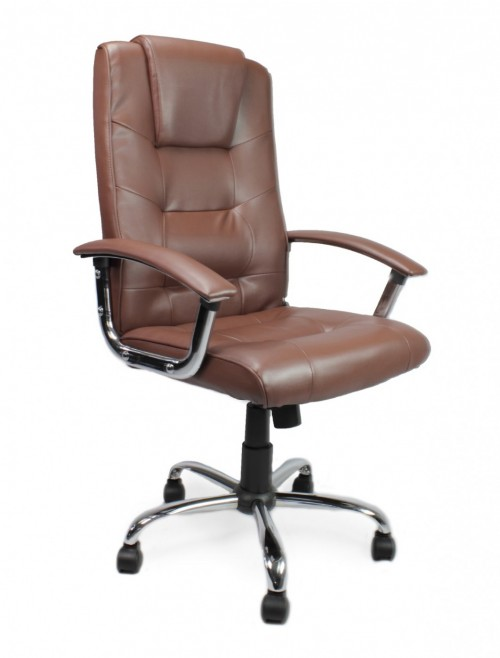 Office Chair Brown Leather Westminster Executive Chair 2008ATG/LBW by Eliza Tinsley