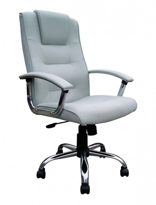 Office Chair Silver Leather Westminster Executive Chair 2008ATG/LSV by Eliza Tinsley