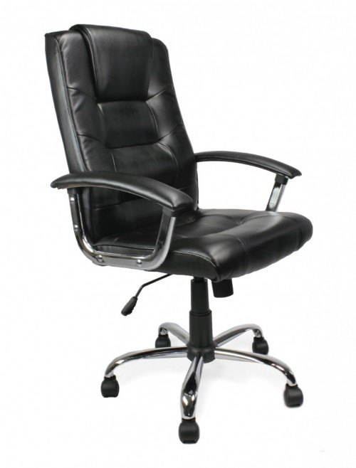 Office Chair Black Leather Westminster Executive Chair 2008ATG/LBK by Eliza Tinsley