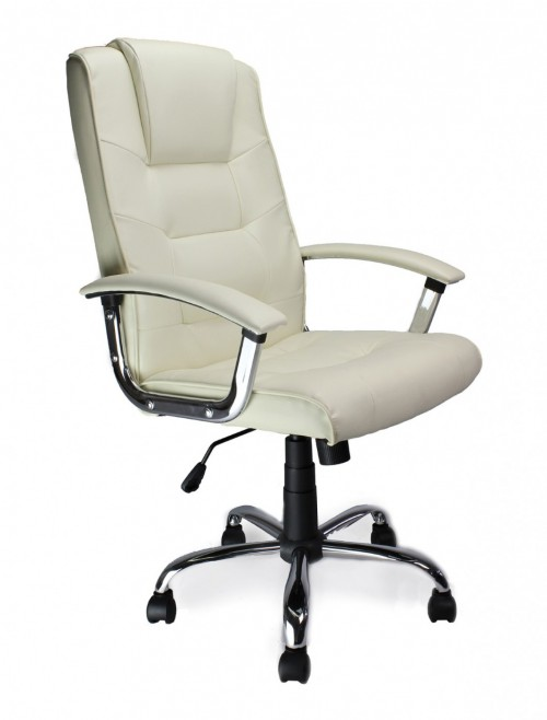 Office Chair Cream Leather Westminster Executive Chair 2008ATG/LCM by Eliza Tinsley