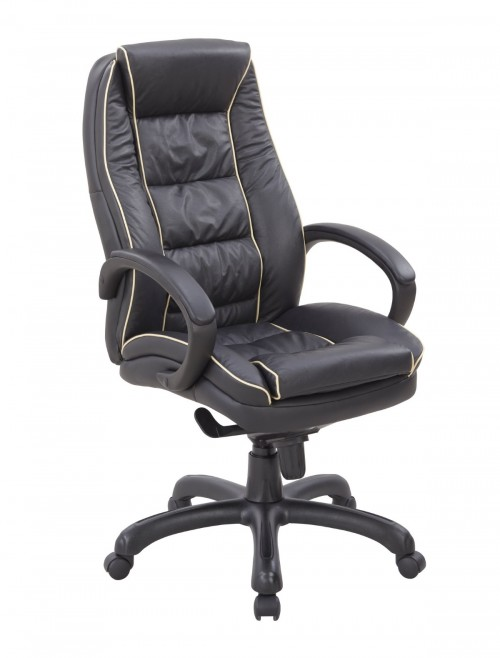 Office Chair Black Leather Truro Executive Chair 609KTAG/LBK by Eliza Tinsley