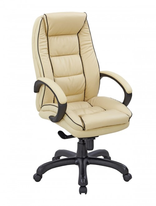 Office Chair Cream Leather Truro Executive Chair 609KTAG/LCM by Eliza Tinsley
