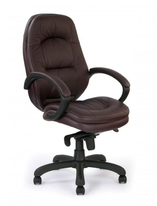 Office Chair Burgundy Leather Brighton Executive Chair 605KTAG/LBY by Eliza Tinsley