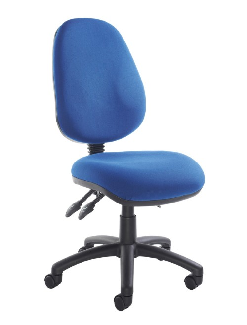Office Chair Blue Fabric Vantage 200 Operator Chair V200-00-B by Dams