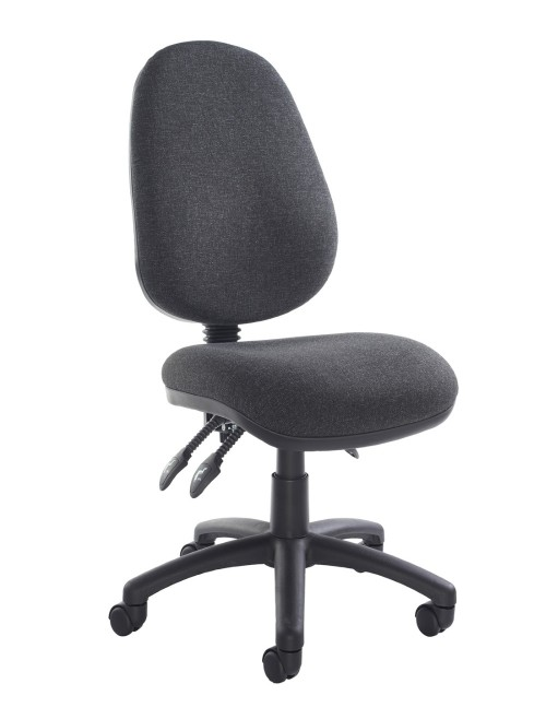 Office Chair Charcoal Fabric Vantage 200 Operator Chair V200-00-C by Dams