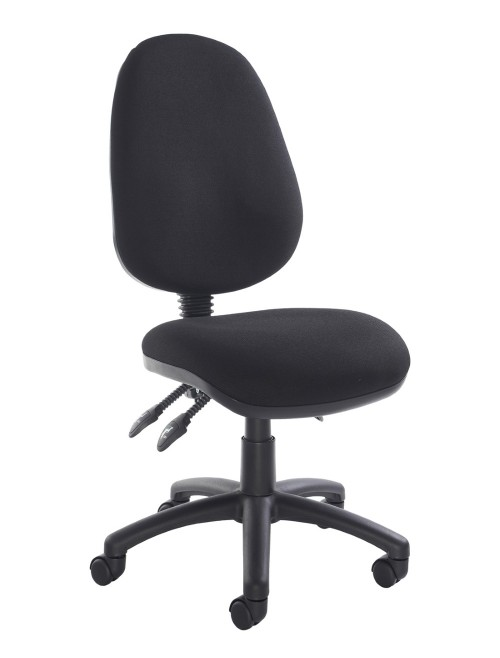 Office Chair Black Fabric Vantage 200 Operator Chair V200-00-K by Dams