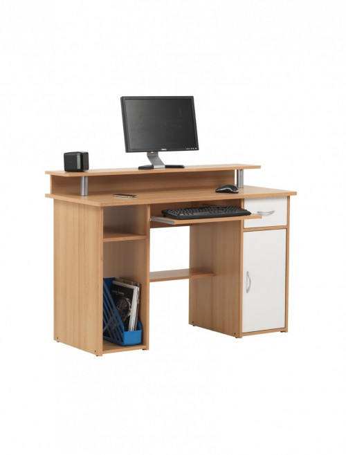 Home Office Desk Beech Albany Computer Desk AW12362-BC by Alphason