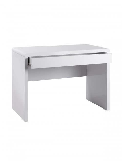 Home Office Desk White Luxor Home Workstation LUXWS-KW by Dams