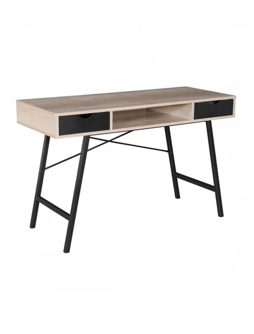 Home Office Desk Oak Effect Coba Home Workstation COBWS-K by Dams