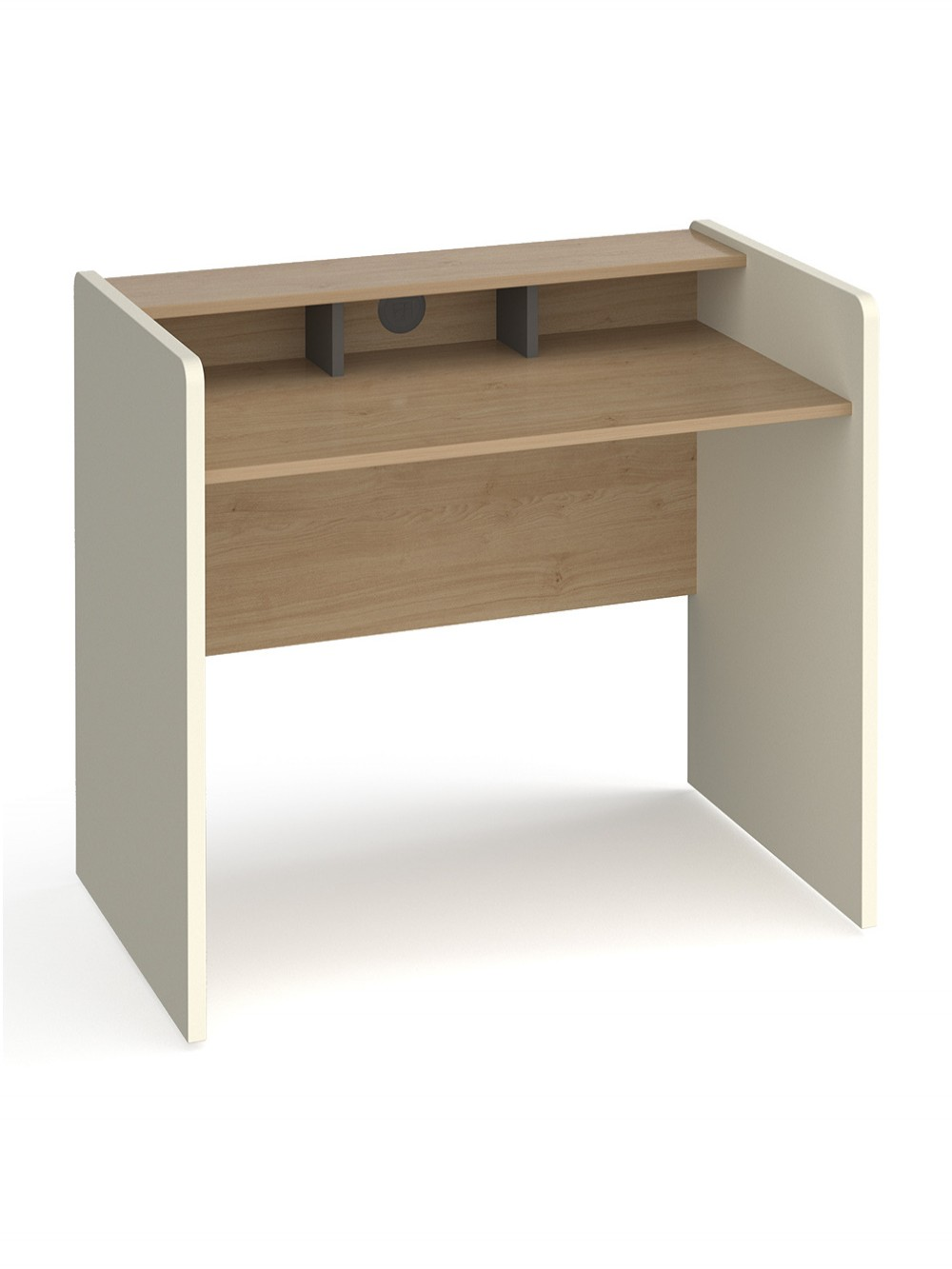 Home Office Desk White and Oak Bagan Home Workstation BAGWS by Dams