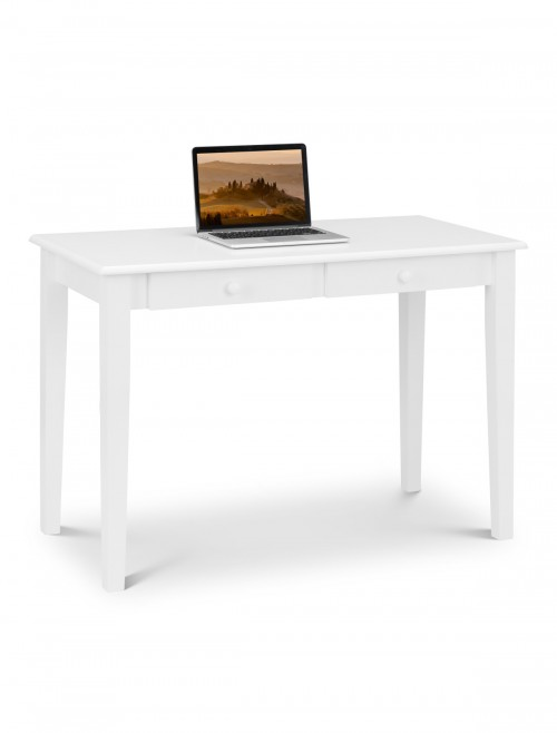 Home Office Desk White Carrington Study Desk CAR201 by Julian Bowen