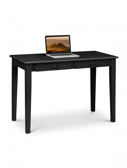 Home Office Desk Black Carrington Study Desk CAR203 by Julian Bowen