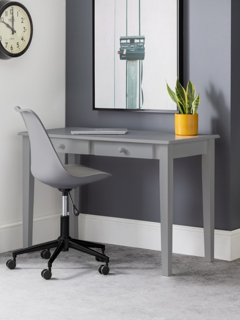 Home Office Desk Grey Carrington Study Desk CAR204 by Julian Bowen