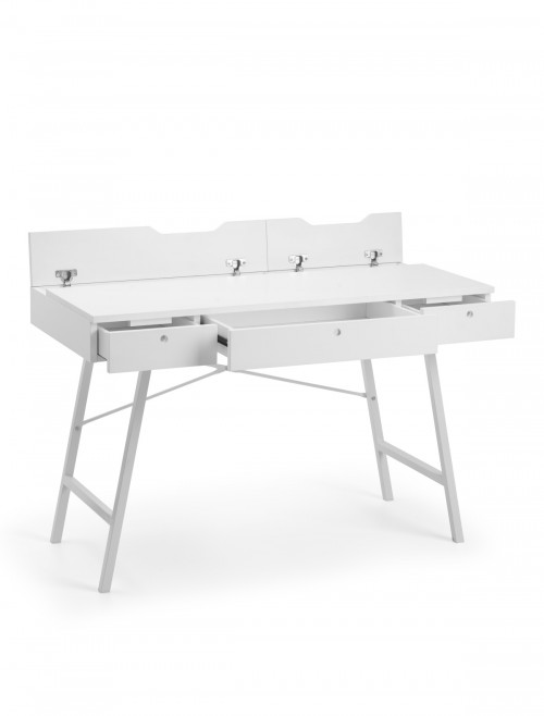 Home Office Desk White Trianon Home Workstation TRI702 by Julian Bowen