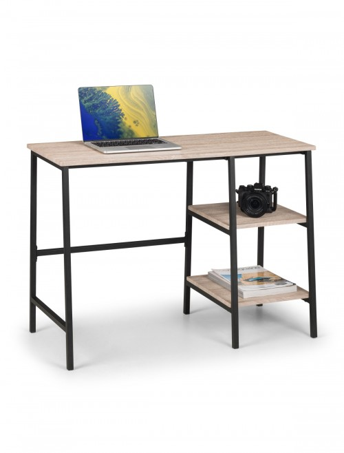 Home Office Desk Oak Tribeca Home Workstation TRI207 by Julian Bowen