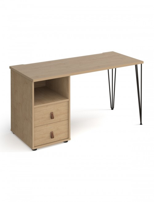 Home Office Desk Oak Tikal Home Workstation TK614P-D-KO-KO by Dams