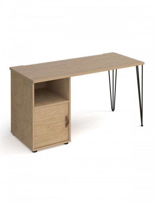 Home Office Desk Oak Tikal Home Workstation TK614P-C-KO-KO by Dams